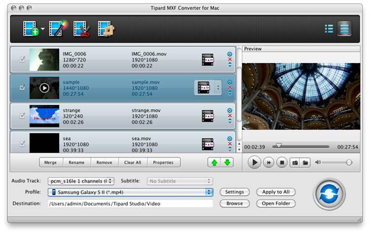 How to Get MXF/P2 MXF Videos to 1080P Samsung Galaxy Siii on Mac